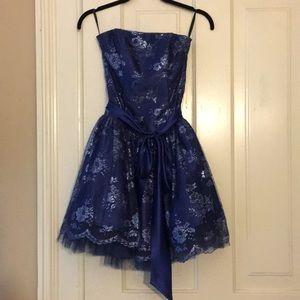 Strapless Blue Jessica McClintock dress